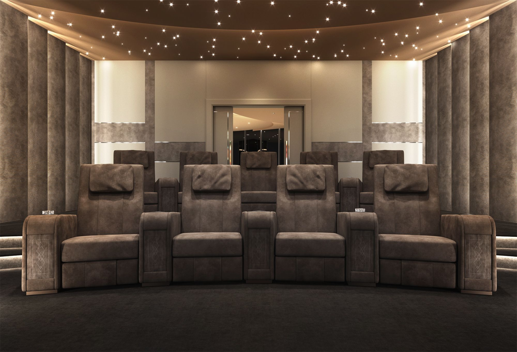 The Home Theater Room Is A New Way To Conceive The Home  # Deco Table Tele Plus Homecimema