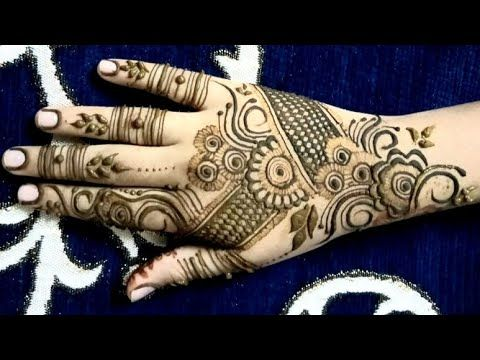 New simple mehandi back hand designs 2020 #16 #hennadesign #mehandidesign # farhinshaikh - YouTube