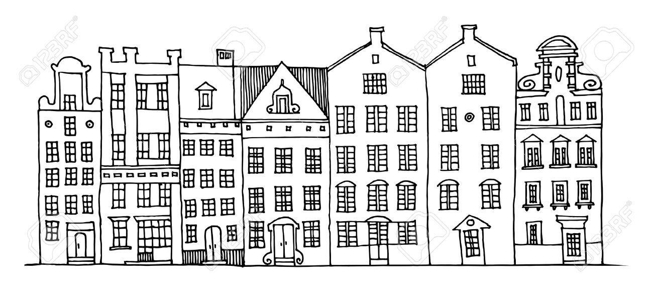 house illustration black and white google search refs