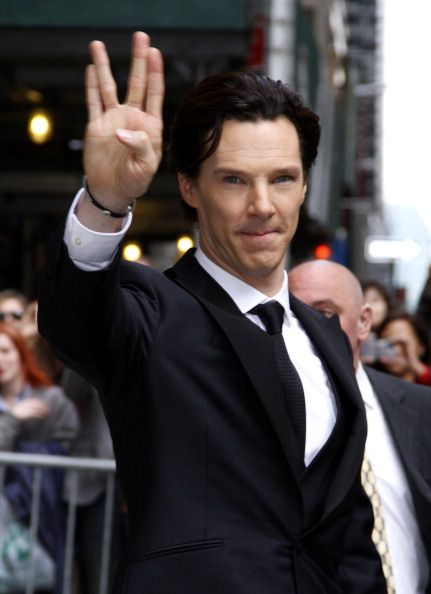 Benedict Cumberbatch leaves the 'Late Show with David Letterman' at Ed Sullivan Theater on May 9, 2013 in New York City