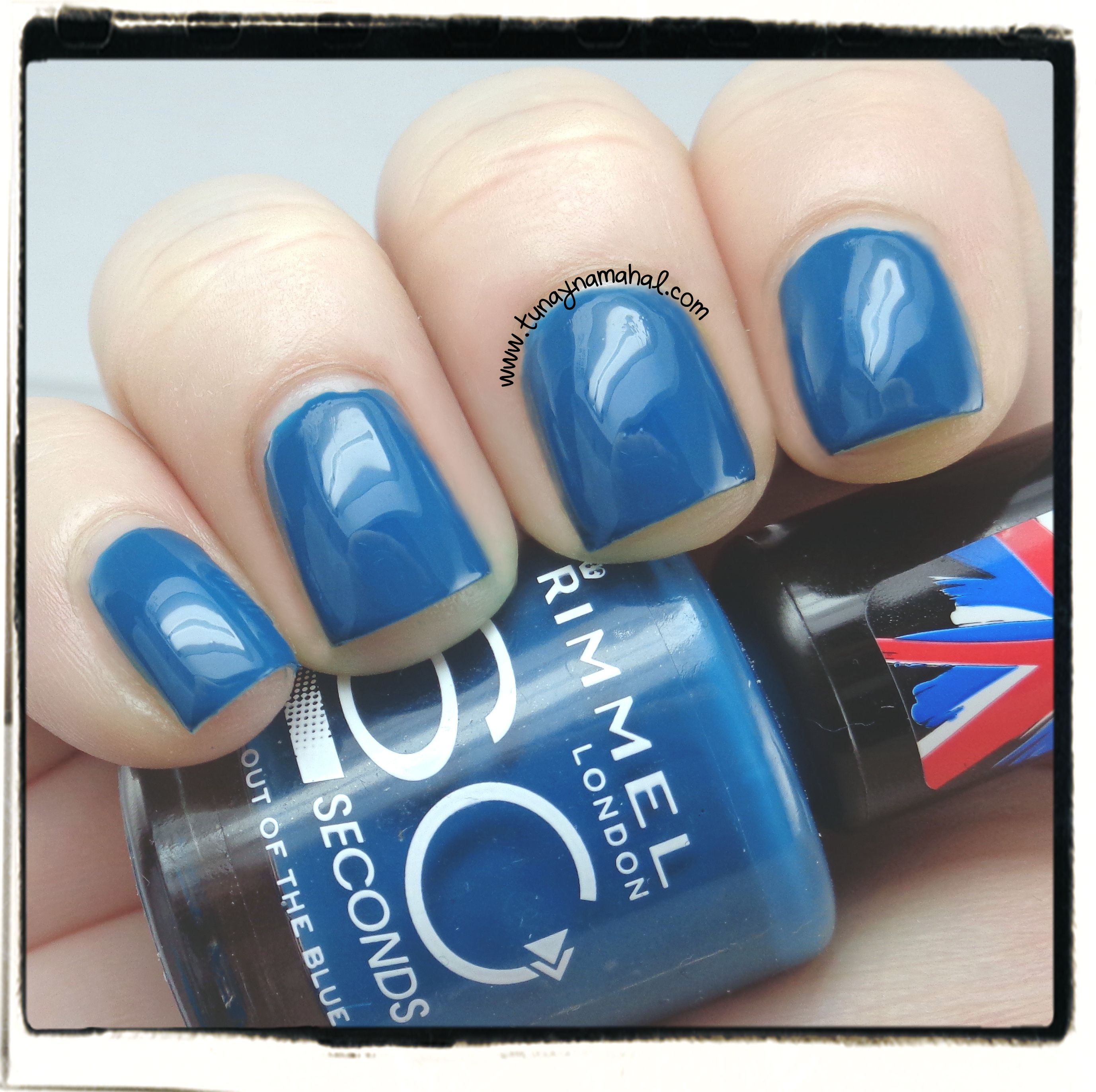 Review of Rimmel 60 second polishes: Out of the Blue | Re-Pin Nail ...