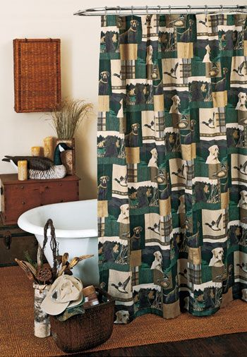 Black Lab Curtains For Lodge Or Cabin 187 Dogs Amp Ducks