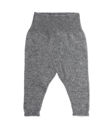 Bløde strik bukser fra spanske Tocoto Vintage uden fod i en fin grå unisex farve.    Der er stjerne i strikken på knæene og med 30% uld og 10% Cashmere.    Str. Guide:    Den totale længde fra taljen til anklen:    Str. 6-9 Mdr:    37 cm    Str. 9-12 Mdr:   39 cm    Str. 12-18 Mdr:  40 cm    Str. 18-24 Mdr:  42 cm