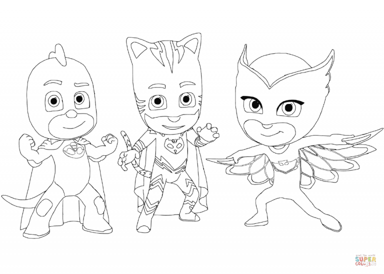 Destiny Owlette Coloring Page Gecko Catboy And Free Printable Pages Imededucation Pj Masks Coloring Pages Mask Drawing Cartoon Coloring Pages