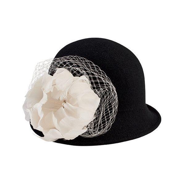 125e535ea7a Women s San Diego Hat Company Wool Felt Cloche with Flower Trim ...