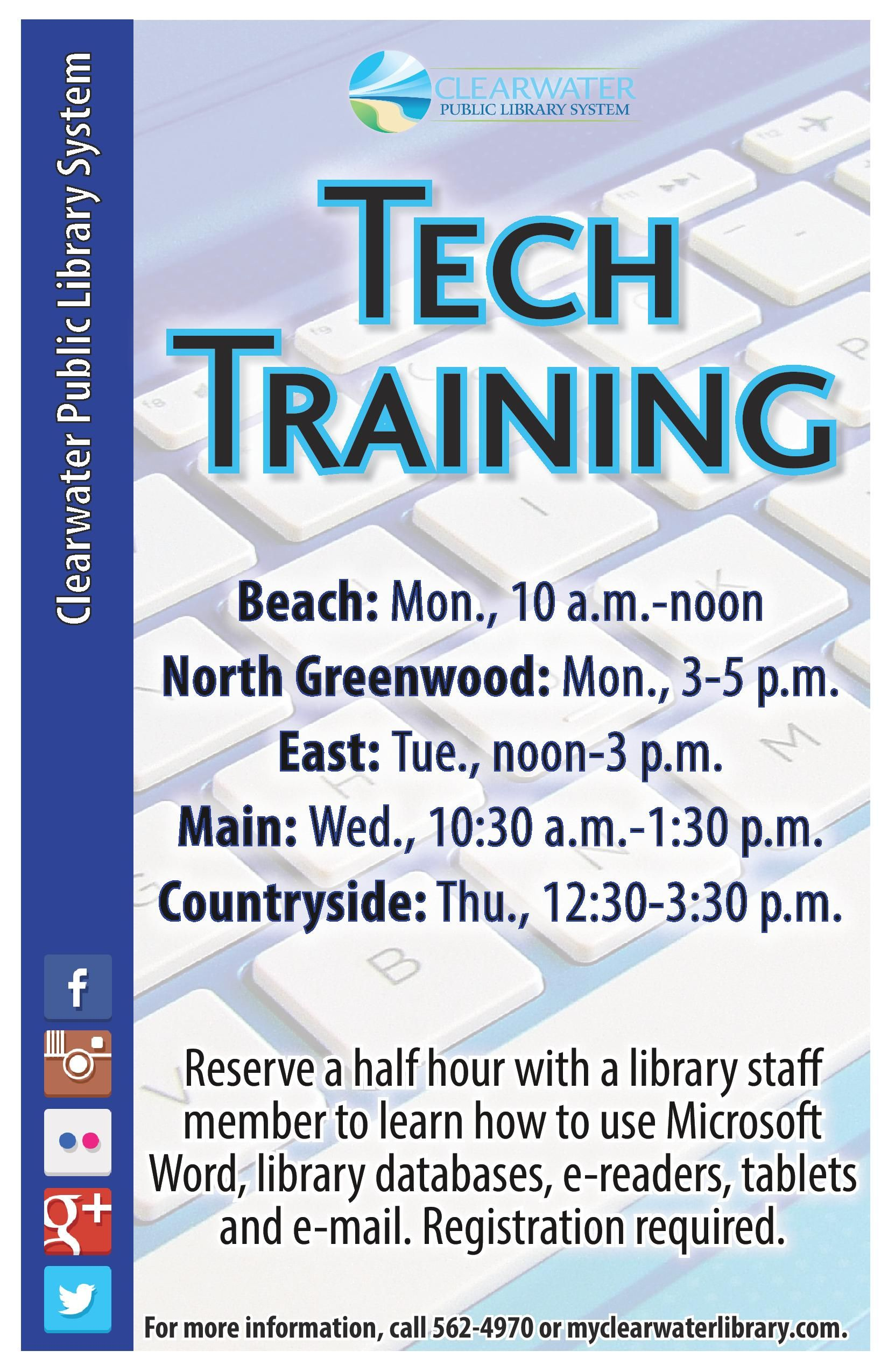 Reserve a half hour with a library staff member to learn