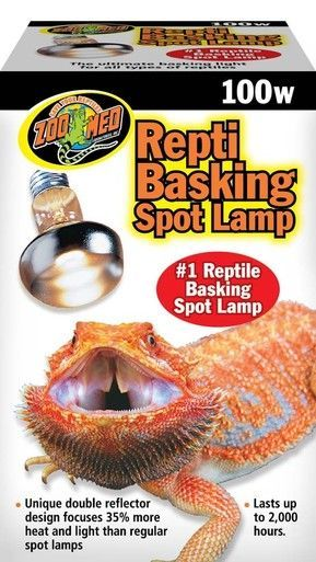 Zoo Med Repti Basking Spot Lamps 100w Unique Patented Double Reflector Beam Zoo Med Reptile Lights Lamp