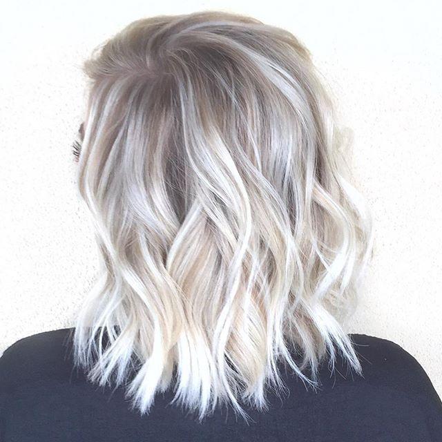 Image Result For White Blonde Highlights Hair Hair Color Balayage Hair Styles Balayage Hair