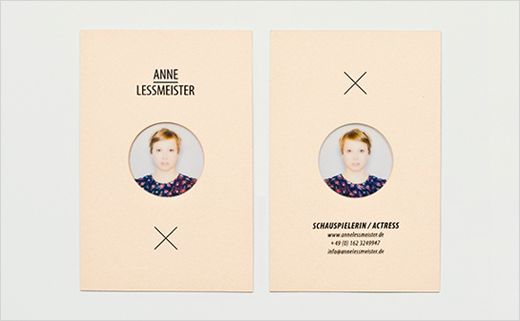 Anne Lessmeister Actress Logo Business Card Design