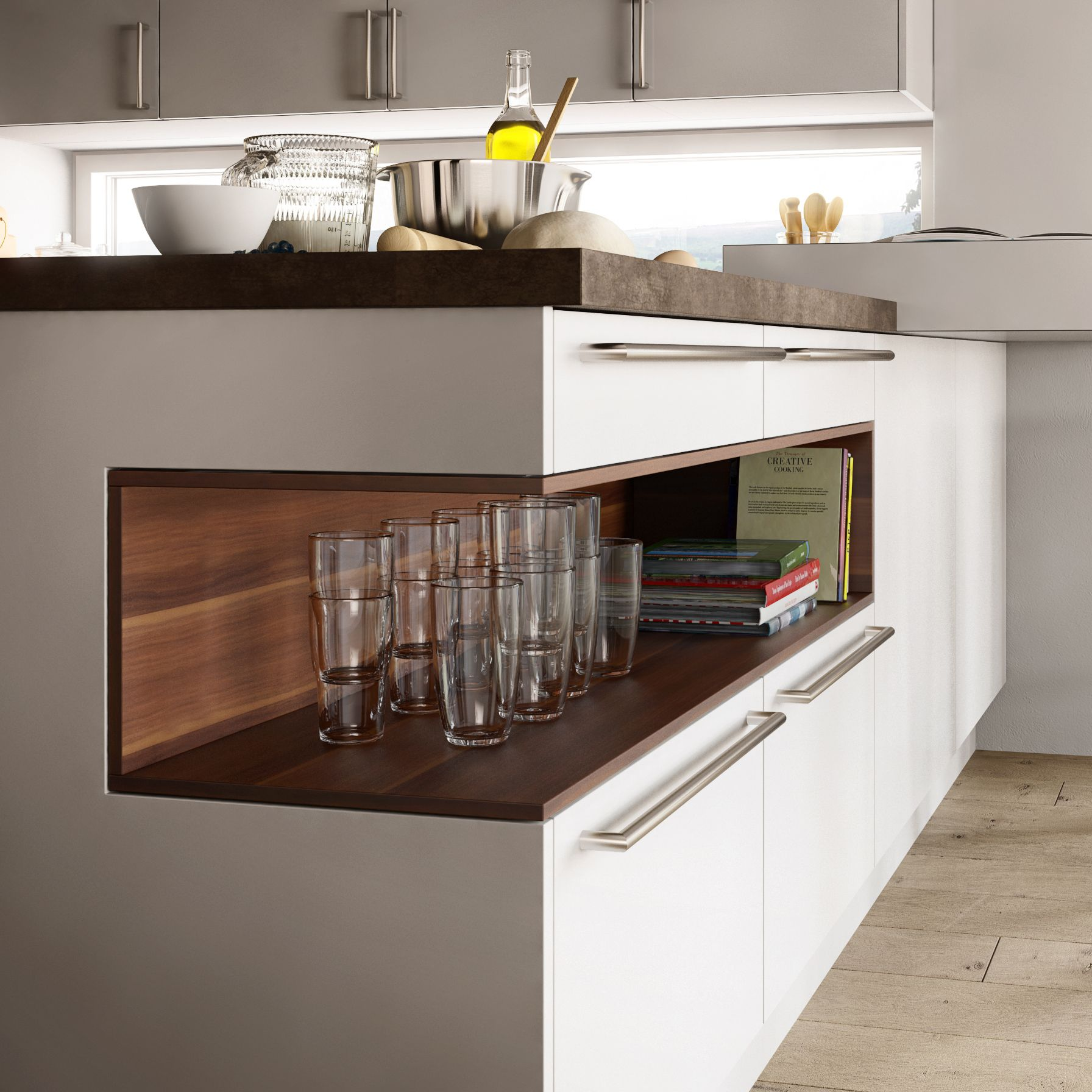 Kitchen Details: Island Shelf Detail In 2019