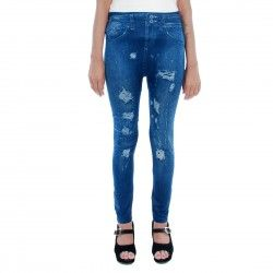 Designer Jeans Print Legging Just like a Jeans but not actual Jeans that's a Jeans Print only. Imported Polyester Lycra Fabric for save the color and your skin friendly. You can wear in office & Party wear. Very soft and smooth just like legging.Waist Size: 26