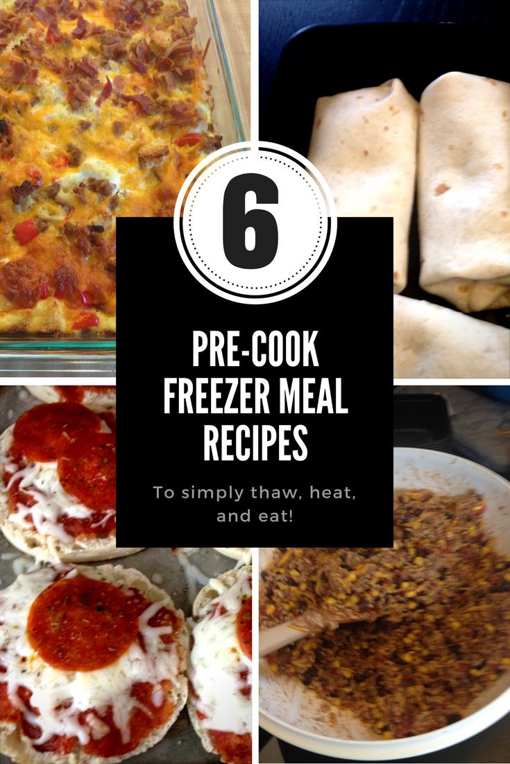 Make Ahead Freezer Meals 6 Easy