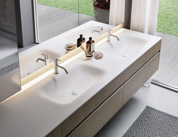 sintesi 101 luxury italian bathroom vanity in piombo matt essence rh pinterest com