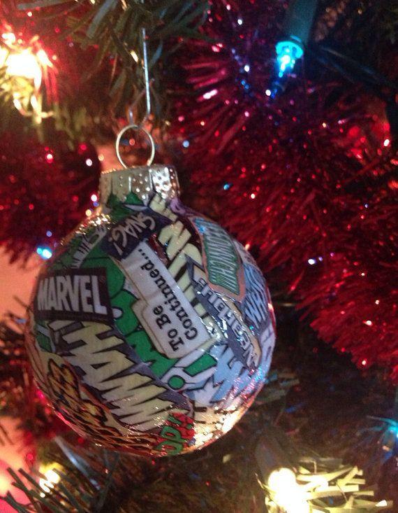 marvel super hero ornaments on etsy | Superhero christmas ...