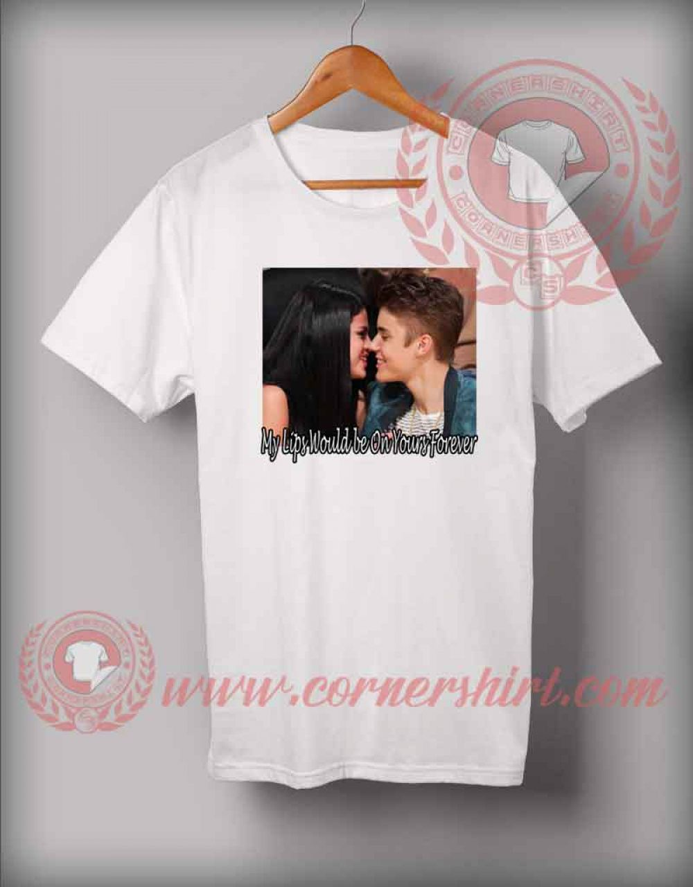 f67c6874 Justin Selena Kissing T shirt | Logo T shirts | Selena gomez shirts ...