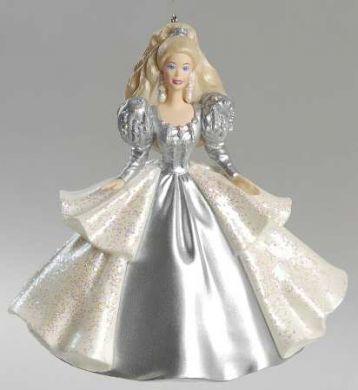 2000 Hallmark Barbie Keepsake Ornament Club Exclusive #5 in series Based on the 1992 HAPPY HOLIDAYS BARBIE DOLL by Hallmark