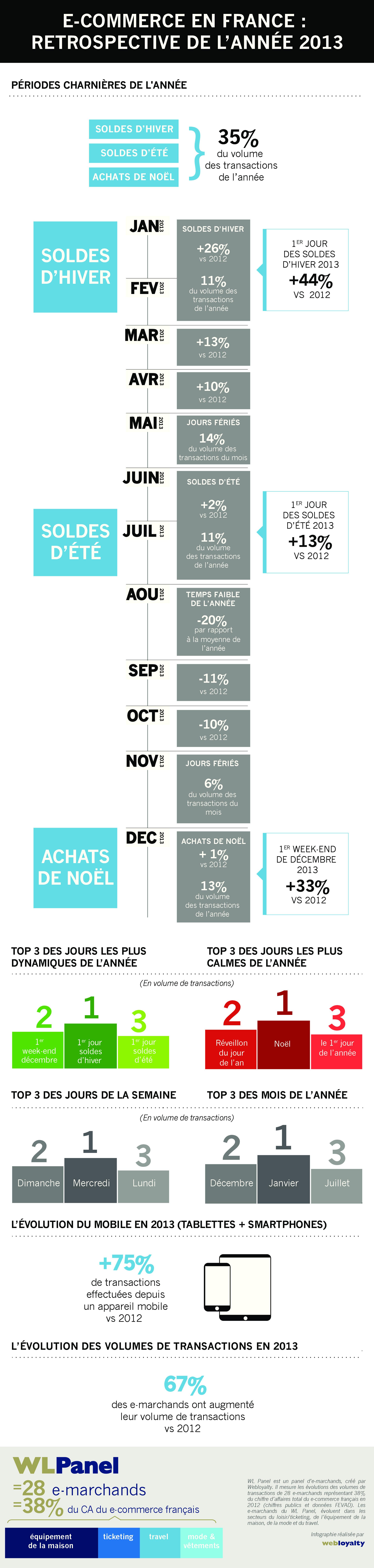 Infographie Rétrospective de l'année 2013 du