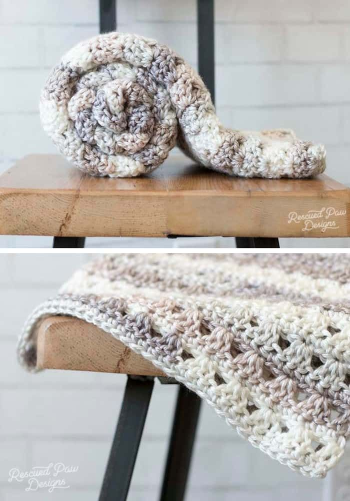 Alissa Easy Crochet Throw Blanket | YARN over projects | Pinterest ...