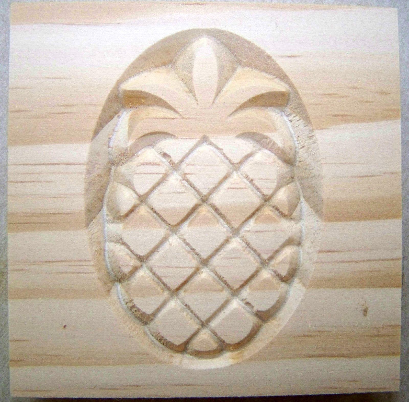 Details about pineapple rosette block quot oak