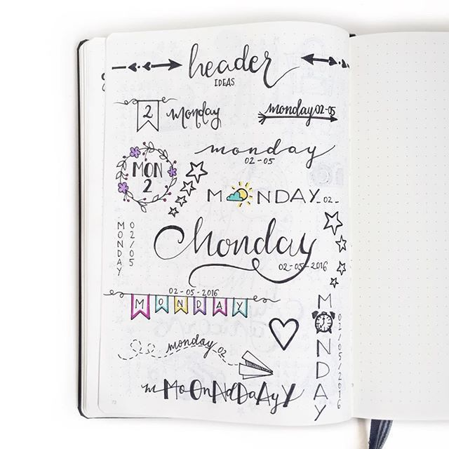Some Header Inspo If You Like Bullet Journaling Journaling