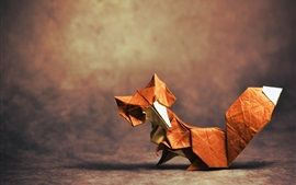 Origami l'art, le renard Fonds d'écran Pictures Photos Images