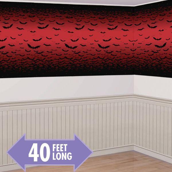 Vampire Bat Room Roll 40ft Halloween Pinterest Birthdays - halloween scene setters decorations