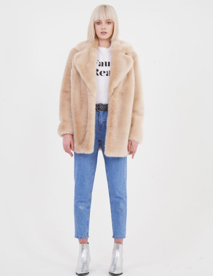 53acfab4567a Faux Fur Plain Colour - Jakke - A Cool London Based Faux Fur Brand ...