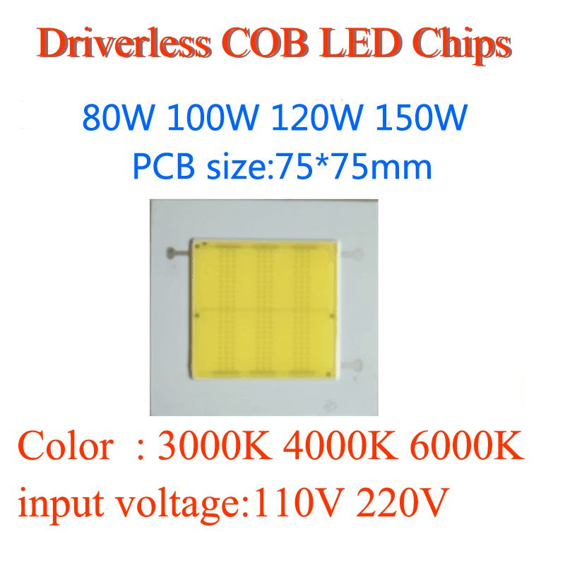 Module Ac110v Dimmable 80w Ceramic Chip 220v 100w Driverless Cob hrCsQdBtx