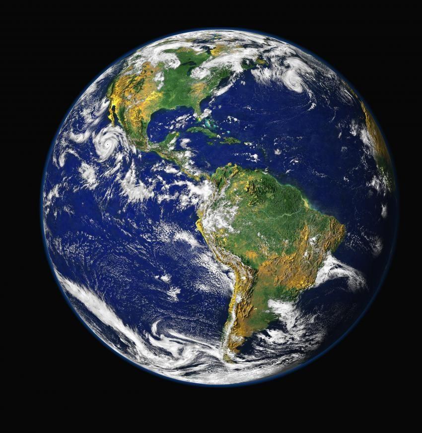 Western hemisphere of the Earth