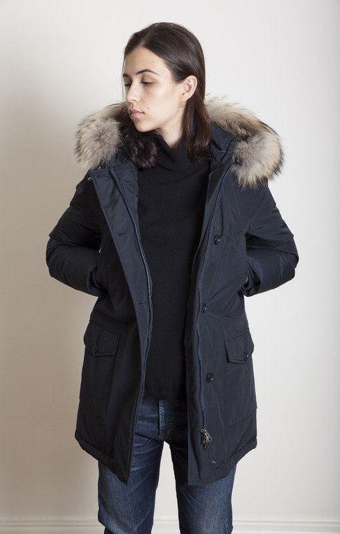 Navy Parka Jacket Ladies