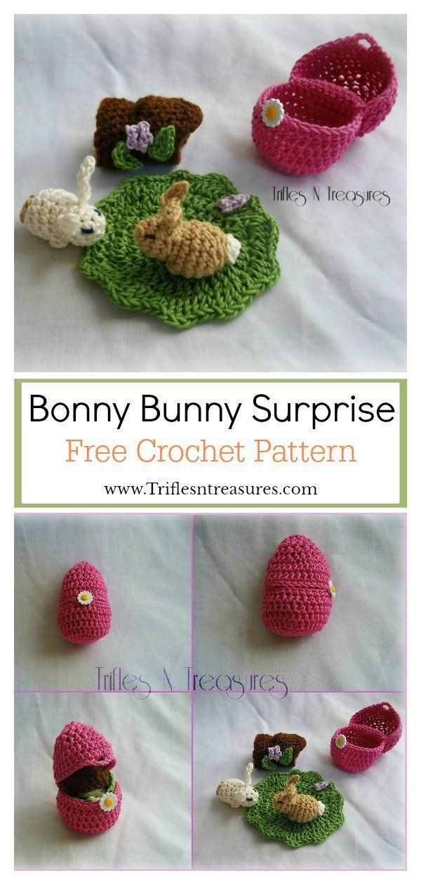 Easter Bunny Playset Free Crochet Pattern