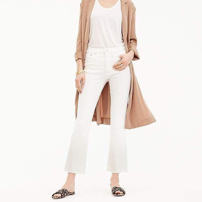 25f1f8dda98 J.Crew Petite Billie demi-boot crop jean in white | Products ...