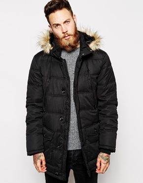 ASOS Quilted Parka Jacket | BEARDS | Pinterest | Men's fashion