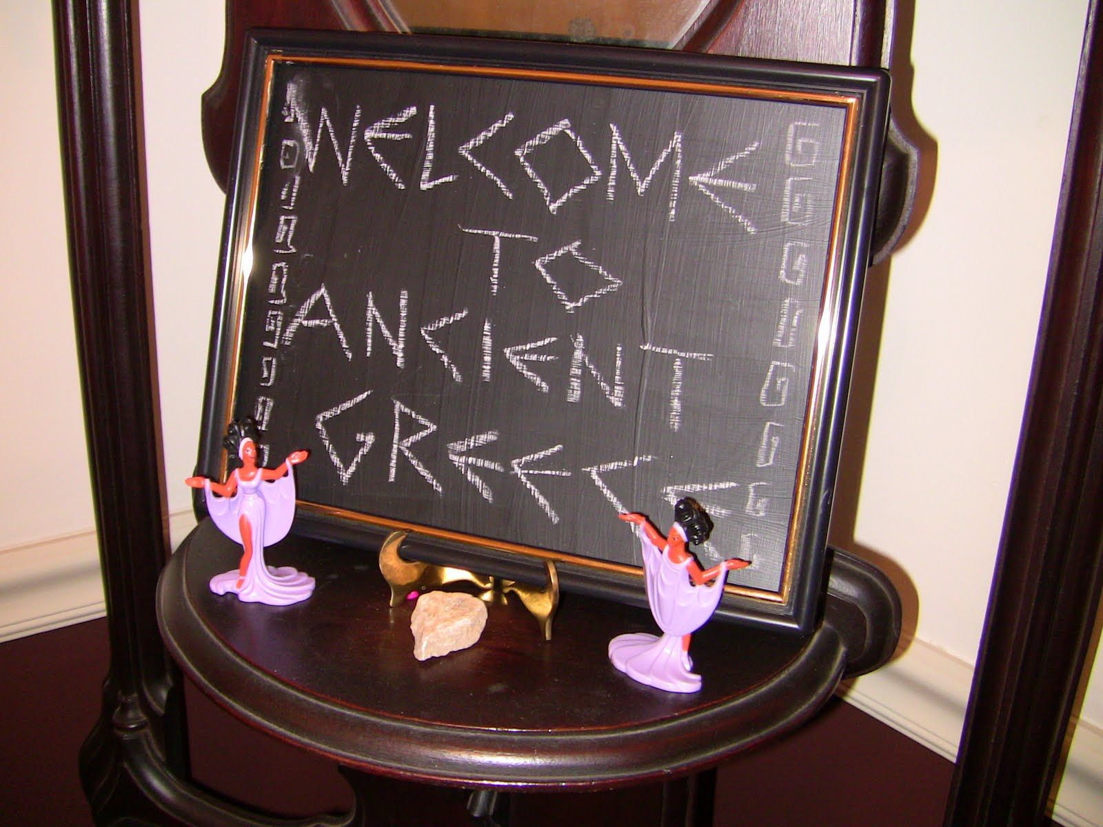 Ideas for greek party decorations see the script for greek writing