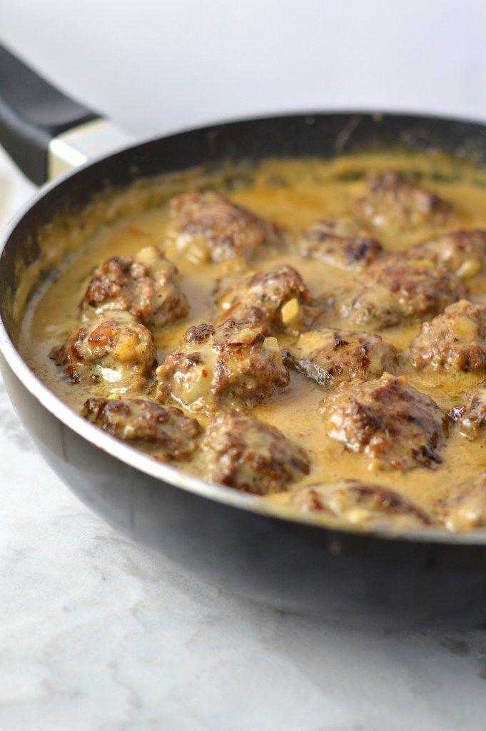 Easy Meatballs in Dijon Gravy images