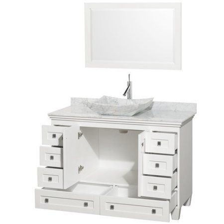 Wyndham Collection Acclaim 48 Inch Single Bathroom Vanity In White
