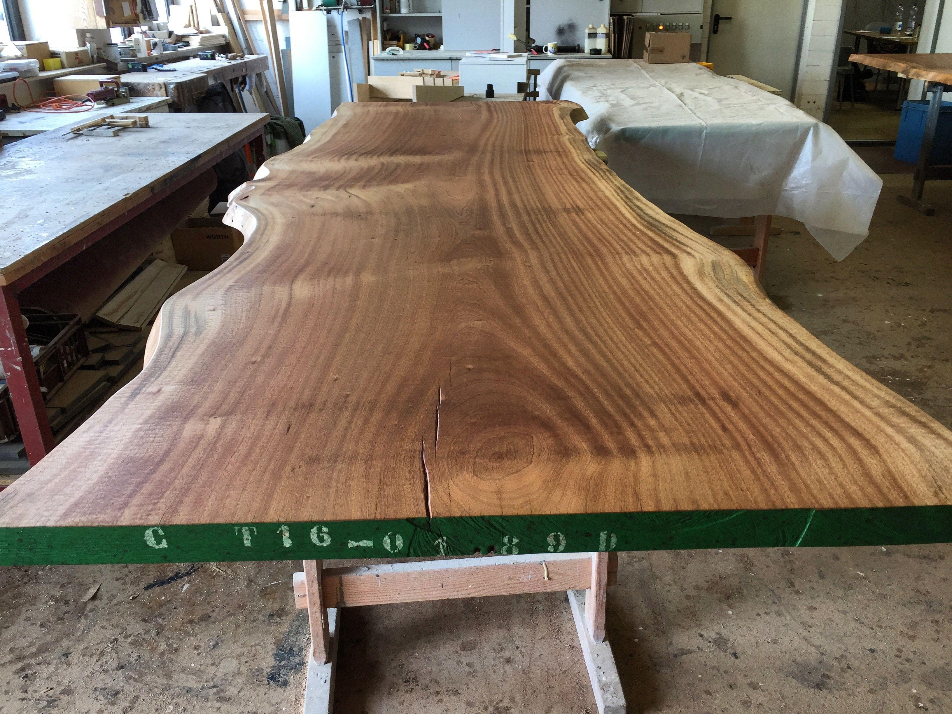 Tischplatte Massivholztisch Massivholzplatte Stammholztisch
