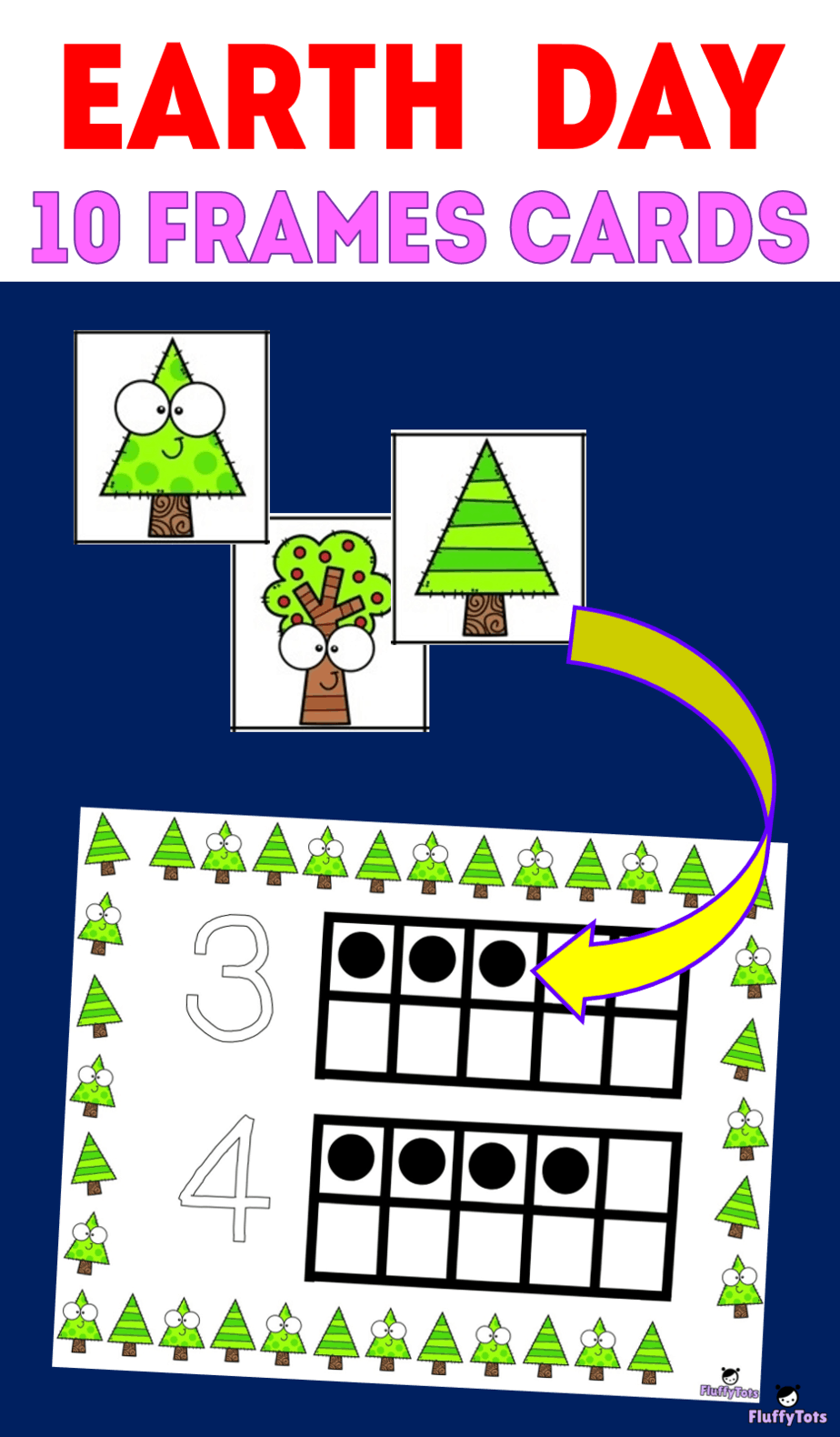 Earth Day Printables Free Earth Day Trees 10 Frames For Preschoolers Counting Activities Preschool Math Activities Preschool Fun Activities For Preschoolers [ 1580 x 924 Pixel ]