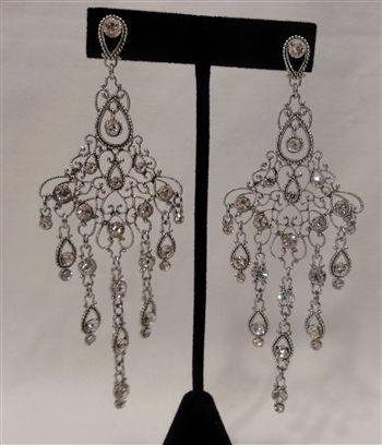 $26 Diamond Chandelier Wedding Earrings