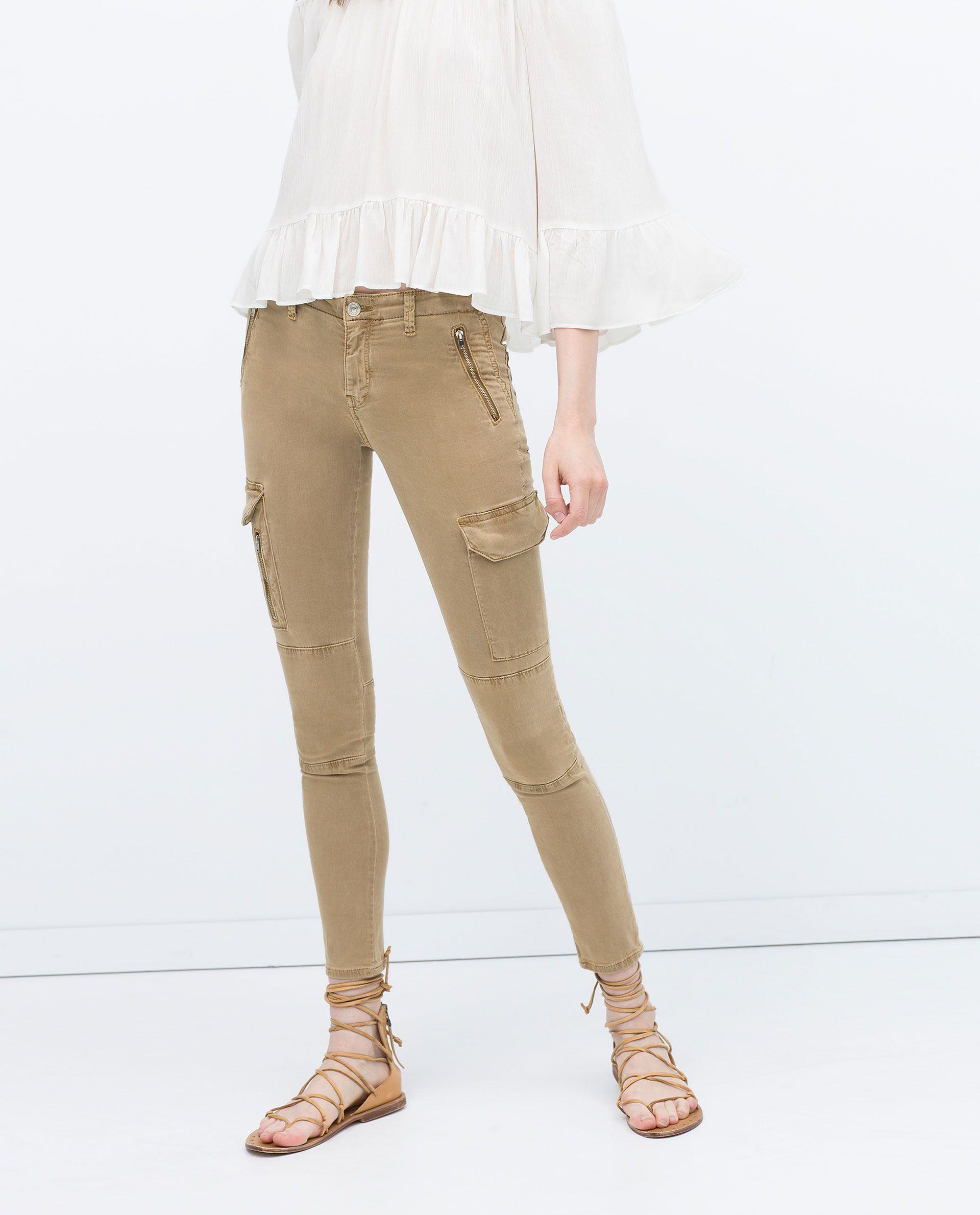 Zbunjeni Konobar Romantika Pantalones Cargo Mujer Zara Thehoneyscript Com