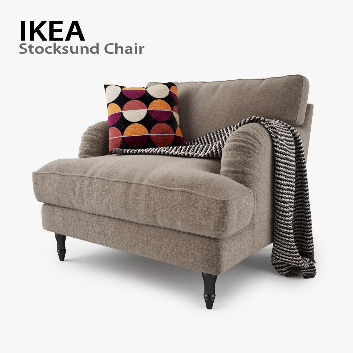ikea stocksund chair seat 3d max Ikea stocksund, Comfy