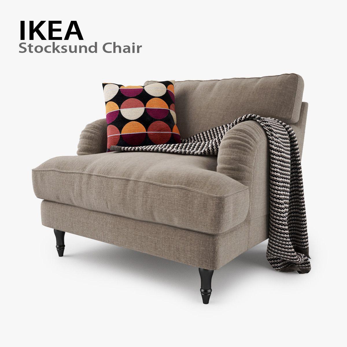 Ikea Stocksund Chair Seat 3d Max