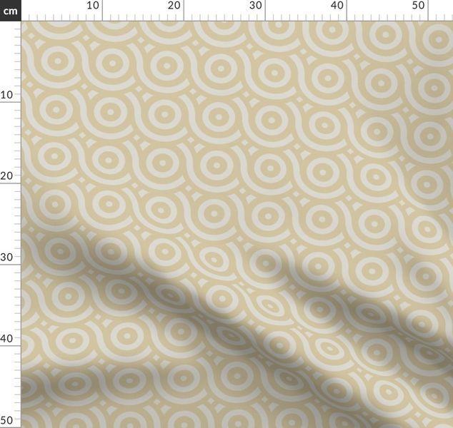 retro, Mitte des Jahrhunderts, Schleife, Geometrie, Kreis, Stein, hellbraun, Zen, ruhig, geometrisches Muster, Ruhe, Moderne, so - Spoonflower