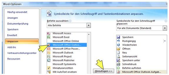 Direkt Aus Einem Office Dokument Word Excel Eine Ms Outlook Aufgabe Erstellen Zeitbluten The Words Microsoft Excel Microsoft Office