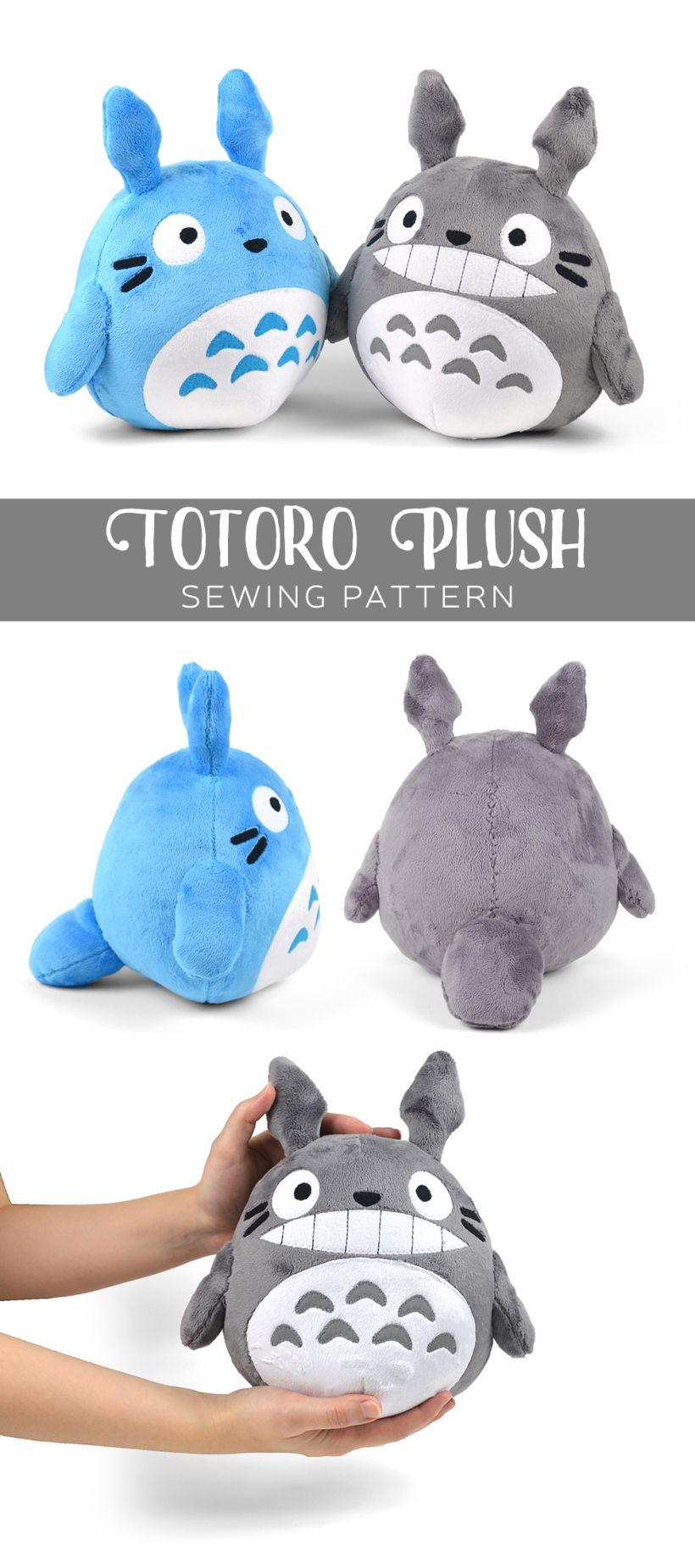 Free Pattern Friday! Totoro Plush | Choly Knight | Cojines | Pinterest