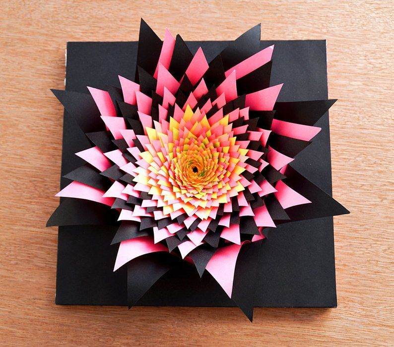 3d Papercraft Flower Art Construction Paper Flowers