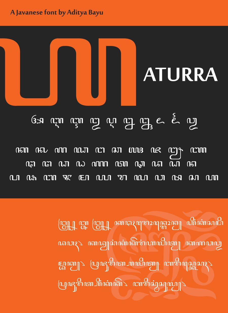 Javanese font aturra by alteaven