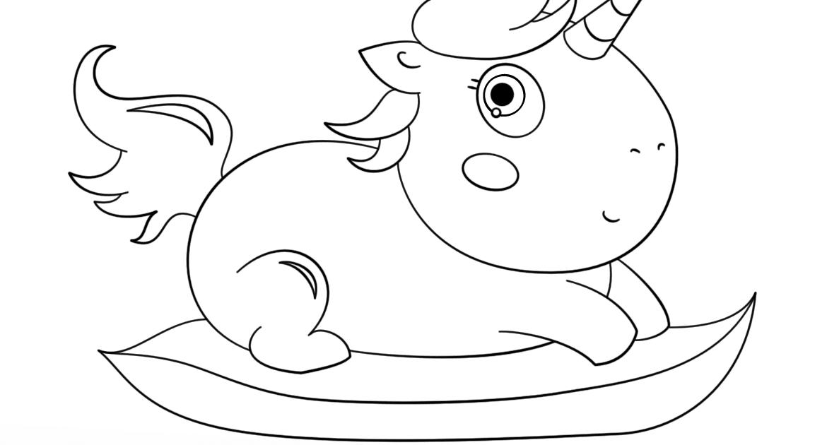 ausmalbild: baby chibi einhorn ausmalbilder kostenlos zum