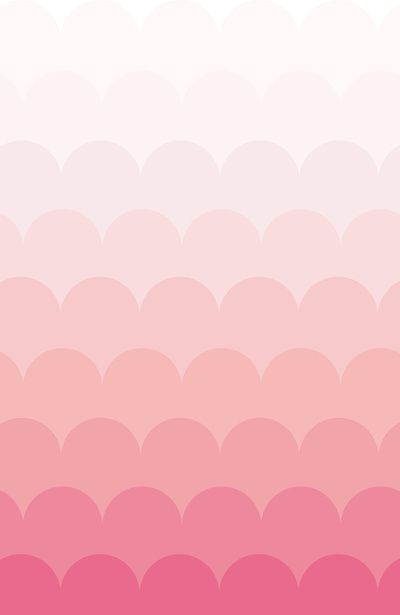 Dusty Pink Opaque Ombre Scallop Artsy Vintage Art Print