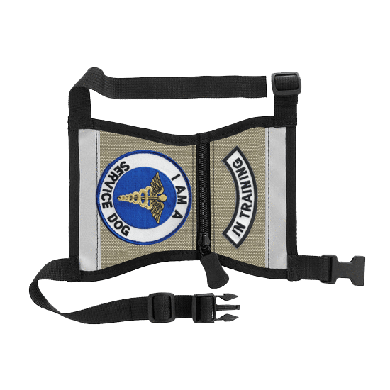 Deluxe Canvas Therapy( Service Dog, ESA) Dog Vest & 7